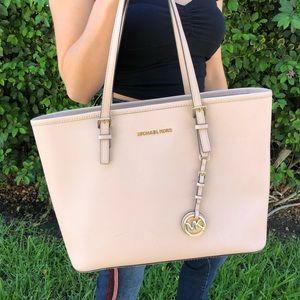 MICHAEL KORS blush pink handbag